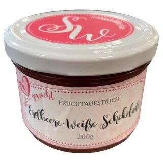 Saxenwerke Erdbeere - Weiße Schokolade Fruchtaufstrich 200g