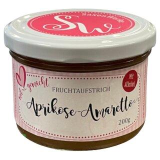 Saxenwerke Aprikose - Amaretto Fruchtaufstrich 200g