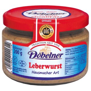 Döbelner Leberwurst Hausmacher Art 200g Glas