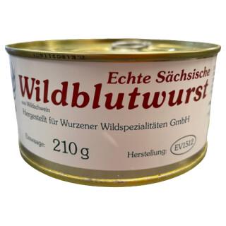 Wurzener Wild Wildblutwurst 210g Dose