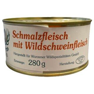 Wurzener Wild Wildschmalzfleisch 280g Dose