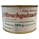 Wurzener Wild Hirschgulasch mit Pfifferlingen 380g Dose
