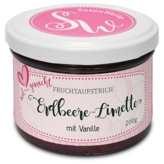 Saxenwerke Erdbeere - Limette Fruchtaufstrich 200g