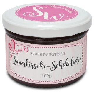 Saxenwerke Sauerkirsch - Schokolade Fruchtaufstrich 200g