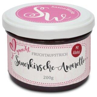 Saxenwerke Sauerkirsch - Amaretto Fruchtaufstrich 200g