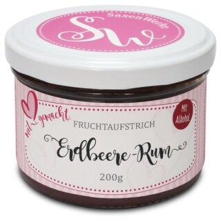 Saxenwerke Erdbeere - Rum Fruchtaufstrich 200g